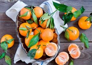 Mandarinen für Schlankheit