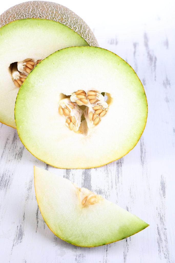 Hausgemachtes Beauty-Rezept. Grüne Melone