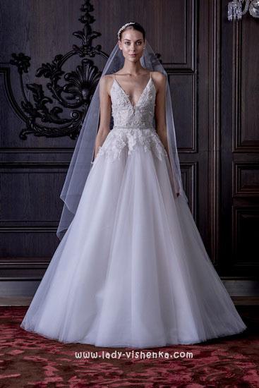 Einfache Hochzeitskleid Monique Lhuillier