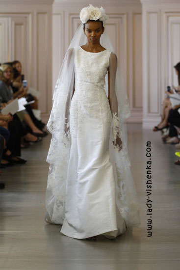 Brautkleider mit ärmeln Foto-Oscar De La Renta