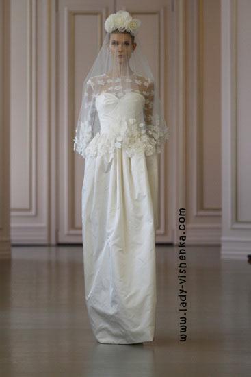 Brautkleider mit ärmeln Oscar De La Renta