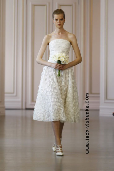 Brautkleider kurz Spitze Oscar De La Renta