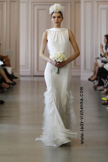 Hochzeitskleid mit geschlossenen Schultern Oscar De La Renta