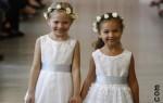 Свадебные платья для девочек - новинки Oscar De La Renta