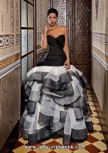 Schwarz-weiß-Hochzeits-Kleid - Jordi Dalmau