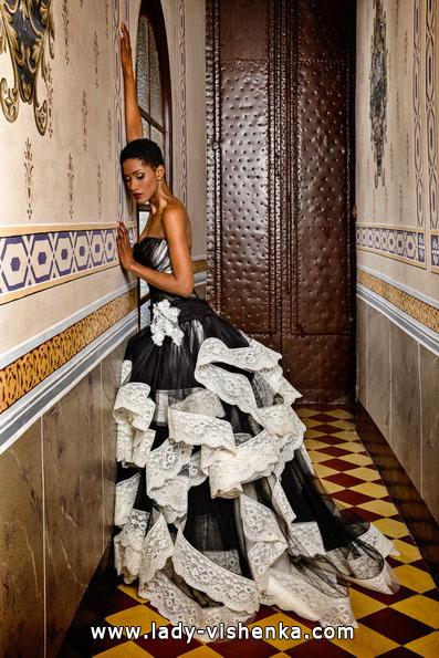 Schwarz-weißes Hochzeitskleid-Foto - Jordi Dalmau