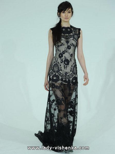 Hochzeitskleid mit schwarzer Spitze 2016 - Claire Pettibone