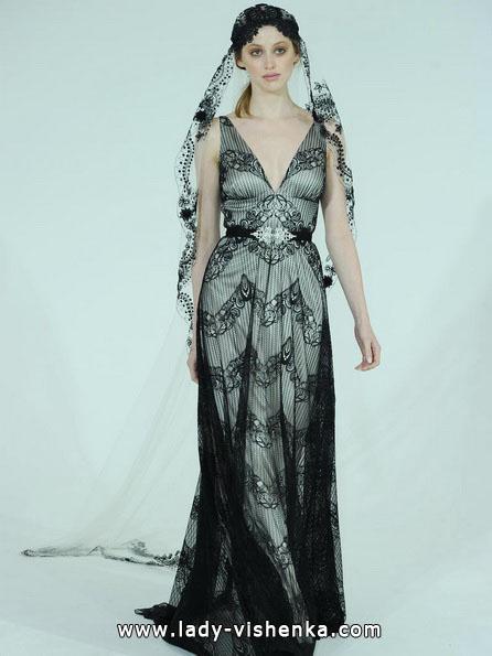 Schwarz-weißes brautkleid 2016 - Claire Pettibone
