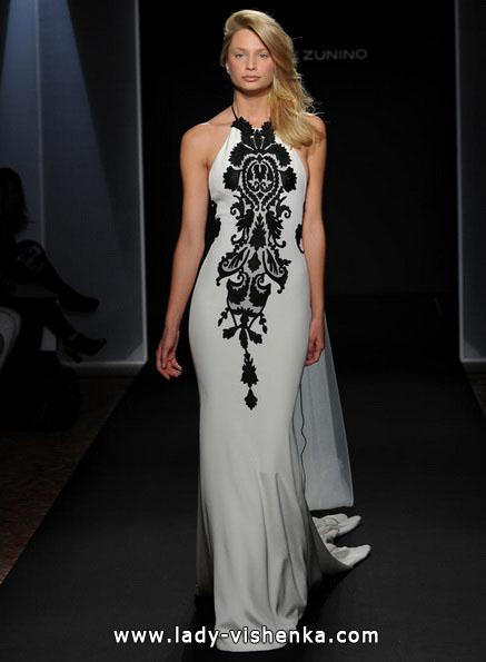 Hochzeitskleid mit schwarzer Spitze 2016 - Mark Zunino