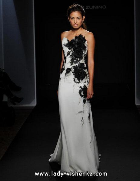 Schwarz-weißes brautkleid 2016 - Mark Zunino