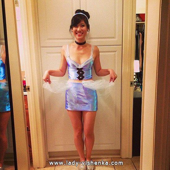 Kurze Cinderella Kostüm für Halloween