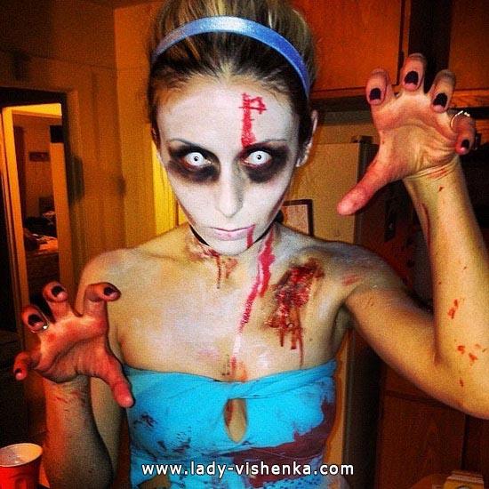 Zombie Cinderella auf den Halloween