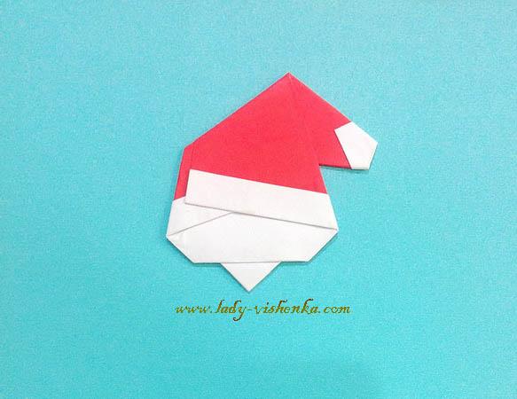 Weihnachtsmann aus Papier