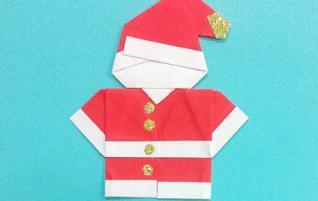 Papier Santa Claus auf einem Fenster oder auf dem Weihnachtsbaum
