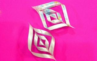 3D-Schneeflocke aus Papier