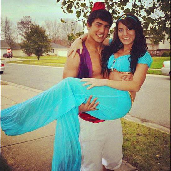Jasmin und Aladdin auf Halloween