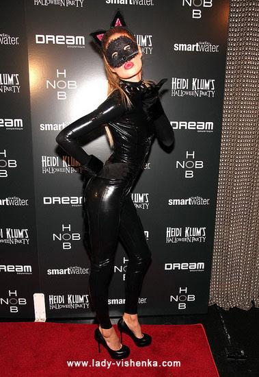 Schöne Katze Kostüm an Halloween