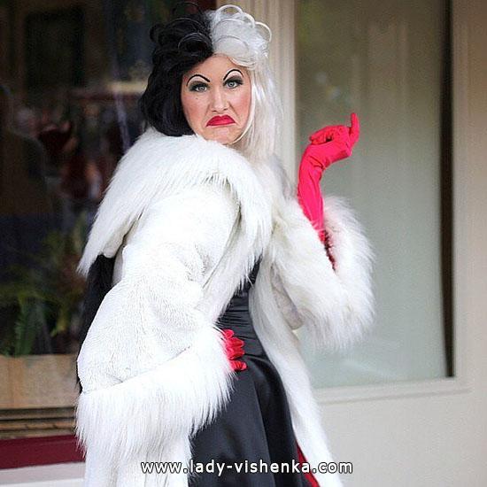 Cruella de vil kostüm