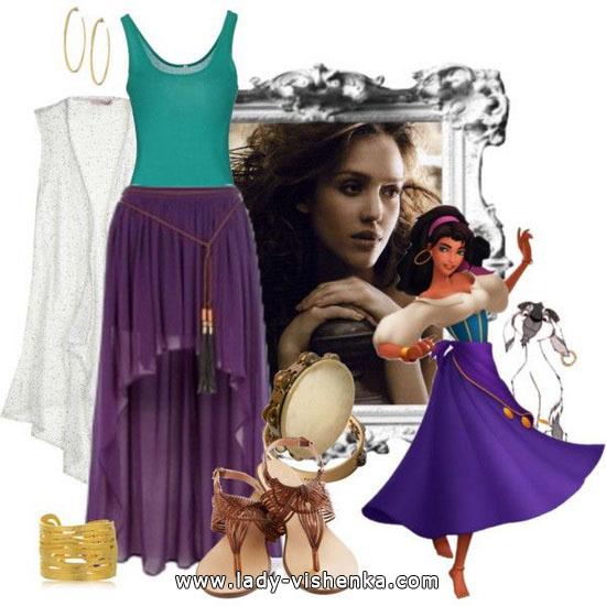 ein Outfit für Halloween mit Ihren Händen - Esmeralda