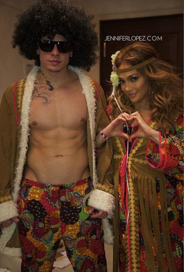 Promi-Halloween-Kostümen - Hippie