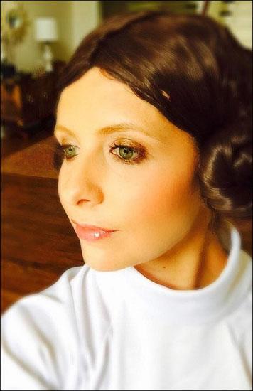 Promi-Halloween-Kostümen - Prinzessin Leia