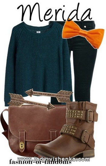 Outfit Merida an Halloween für Mädchen