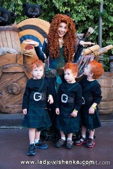 Bild von Merida an Halloween für Mädchen