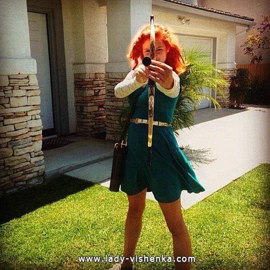 Anzug für Mädchen auf Halloween - Merida