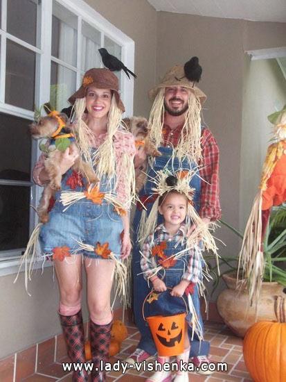 Kostüm Vogelscheuche Halloween für Paare