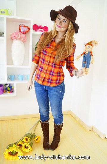 Vogelscheuche - Outfit für Halloween-Party für Mädchen
