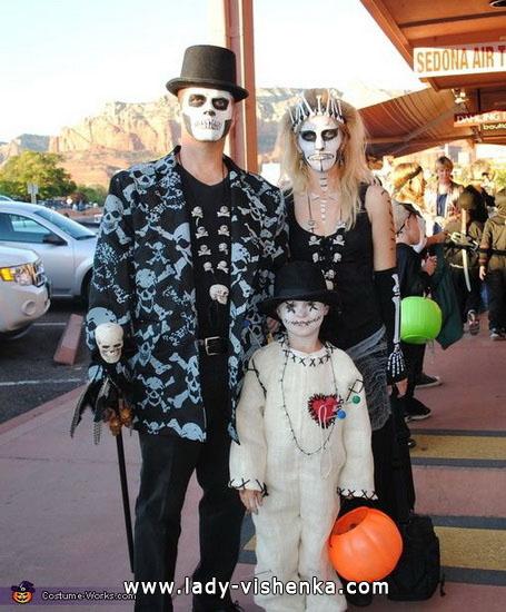 Skelett-Kostüm Halloween für die ganze Familie