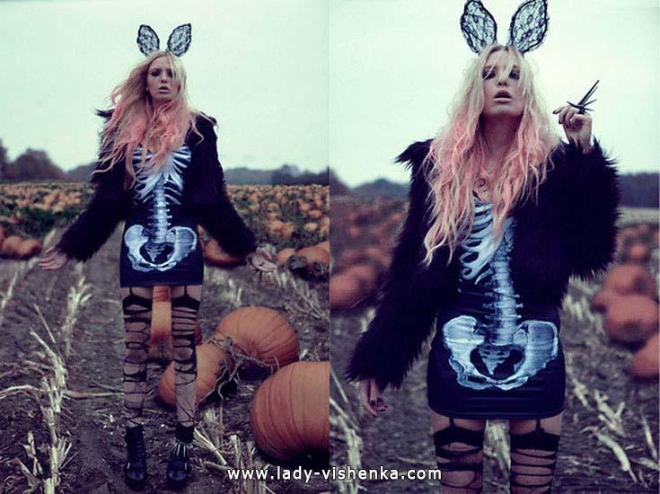 Kleider für Halloween-Party - Skelett