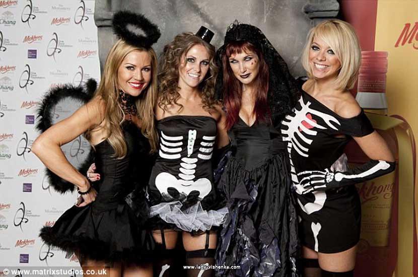 Kurzes Kleid - Skelett Halloween