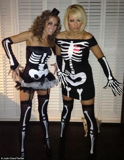 Skelett Halloween - Kleid