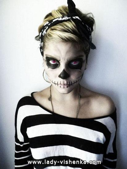 Skeleton Halloween mit Ihren Händen