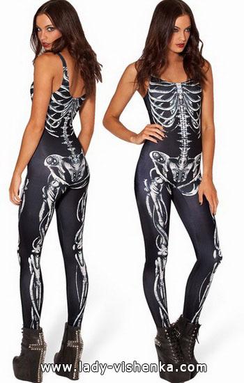 die Idee ist, ein Kleid für Halloween - Skelett
