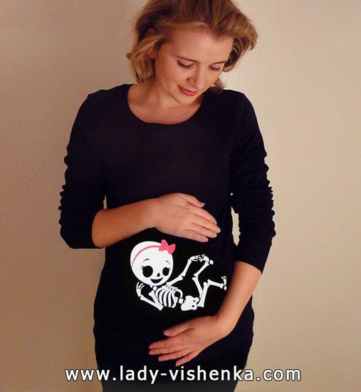 Skelett-Kostüm Halloween für schwangere