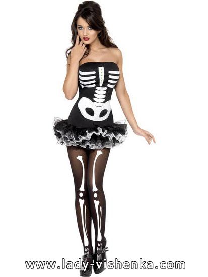 Kleid für Halloween - Skelett Outfit