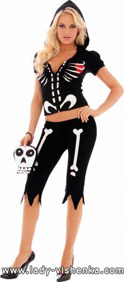 Skelett-Kostüm Halloween für Mädchen - Foto