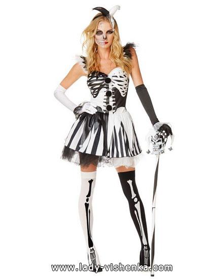 Halloween Bilder, Mädchen - Skelett-Kostüm