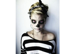 Skelett-Kostüm für Mädchen Halloween