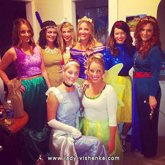 Kostüm Ideen für Halloween für Mädchen - Disney Prinzessin