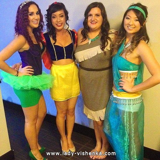 ein Outfit für Halloween - Disney Prinzessinnen