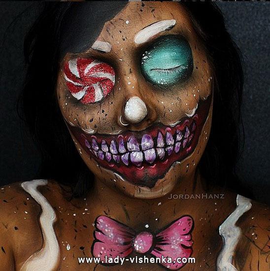 make-up für Halloween - Zirkus