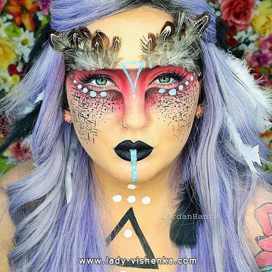 make-up für Halloween