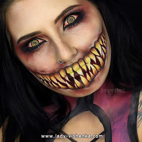 Scary nibbler - make-up für Halloween