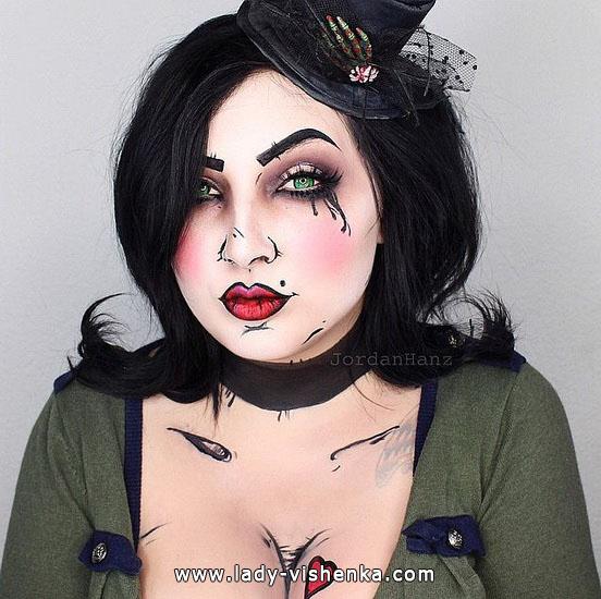 die Dame mit Herz - make-up für Halloween