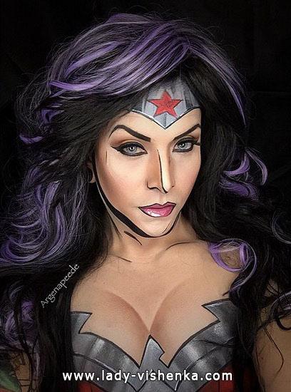 make-up Super-Mädchen auf Halloween
