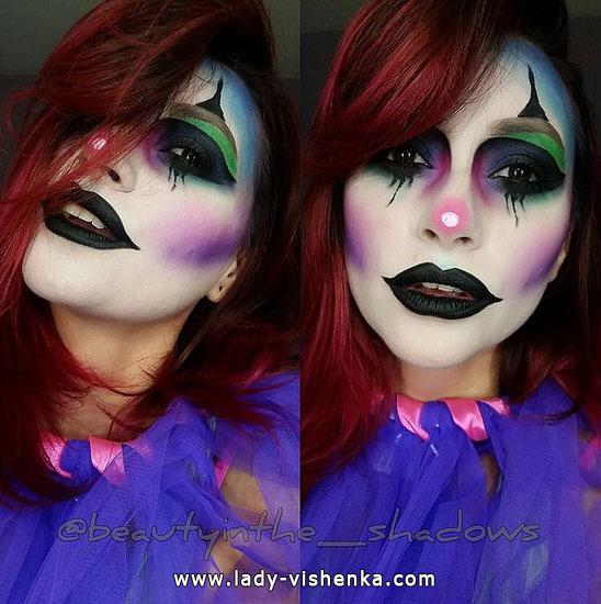 Schöne make-up für Halloween