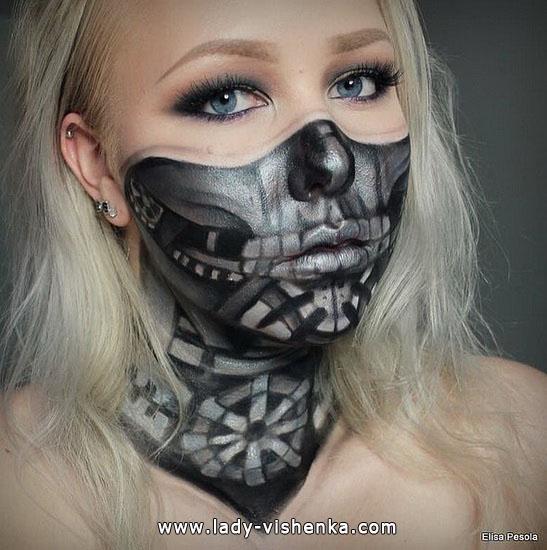 eine Ungewöhnliche make-up für Halloween